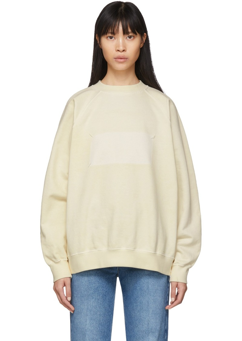 Maison Margiela Off-White Memory Of Label Sweatshirt