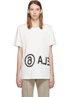 Maison Margiela Off-White Oversized Logo T-Shirt