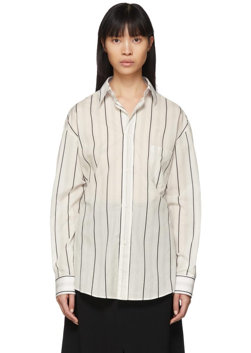 Maison Margiela Off-White Striped Shirt
