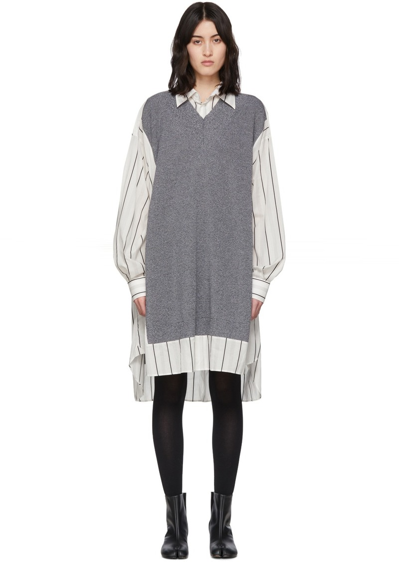 Maison Margiela Off-White Sweater Vest Dress