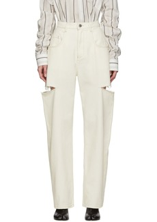 Maison Margiela Off-White Thigh Slit Jeans