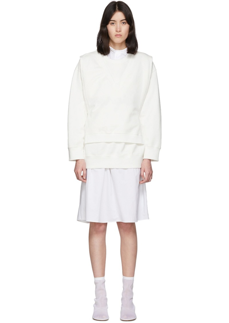 Maison Margiela Off-White V-Bib Sweatshirt