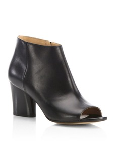 Maison Margiela Open-Toe Leather Booties