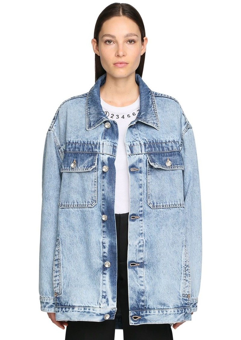 Maison Margiela Oversize Cotton Denim Jacket