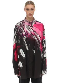Maison Margiela Oversize Printed Cotton Poplin Shirt