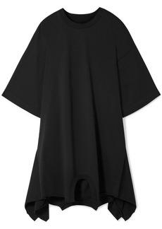 Maison Margiela Oversized Asymmetric Cotton-jersey Mini Dress