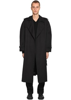 Maison Margiela Oversized Cotton Gabardine Trench Coat