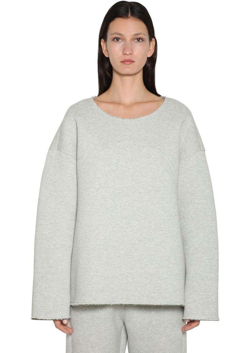 Maison Margiela Oversized Cotton Jersey Sweatshirt