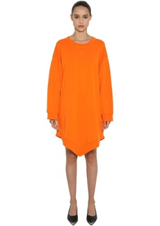 Maison Margiela Oversized  Cotton Sweatshirt Dress