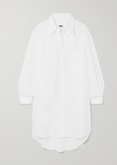 Maison Margiela Oversized Embroidered Cotton-poplin Shirt Dress