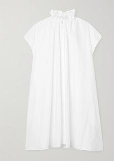Maison Margiela Oversized Gathered Cotton-poplin Dress