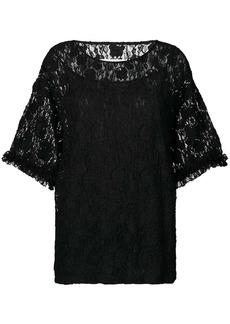 Maison Margiela oversized lace blouse