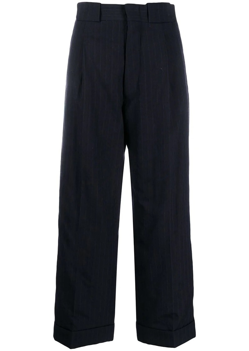 Maison Margiela oversized pinstriped trousers