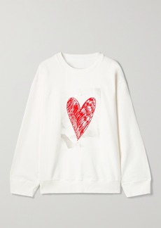 Maison Margiela Oversized Printed Cotton-jersey Sweatshirt
