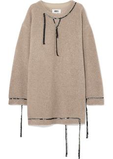 Maison Margiela Oversized Sequin-embellished Wool-blend Bouclé Mini Dress