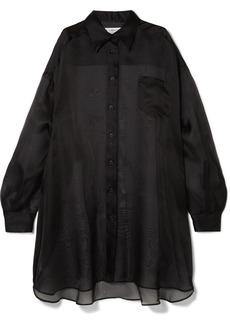 Maison Margiela Oversized Silk-organza Shirt