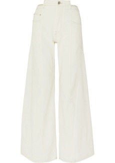 Maison Margiela Paneled High-rise Wide-leg Jeans