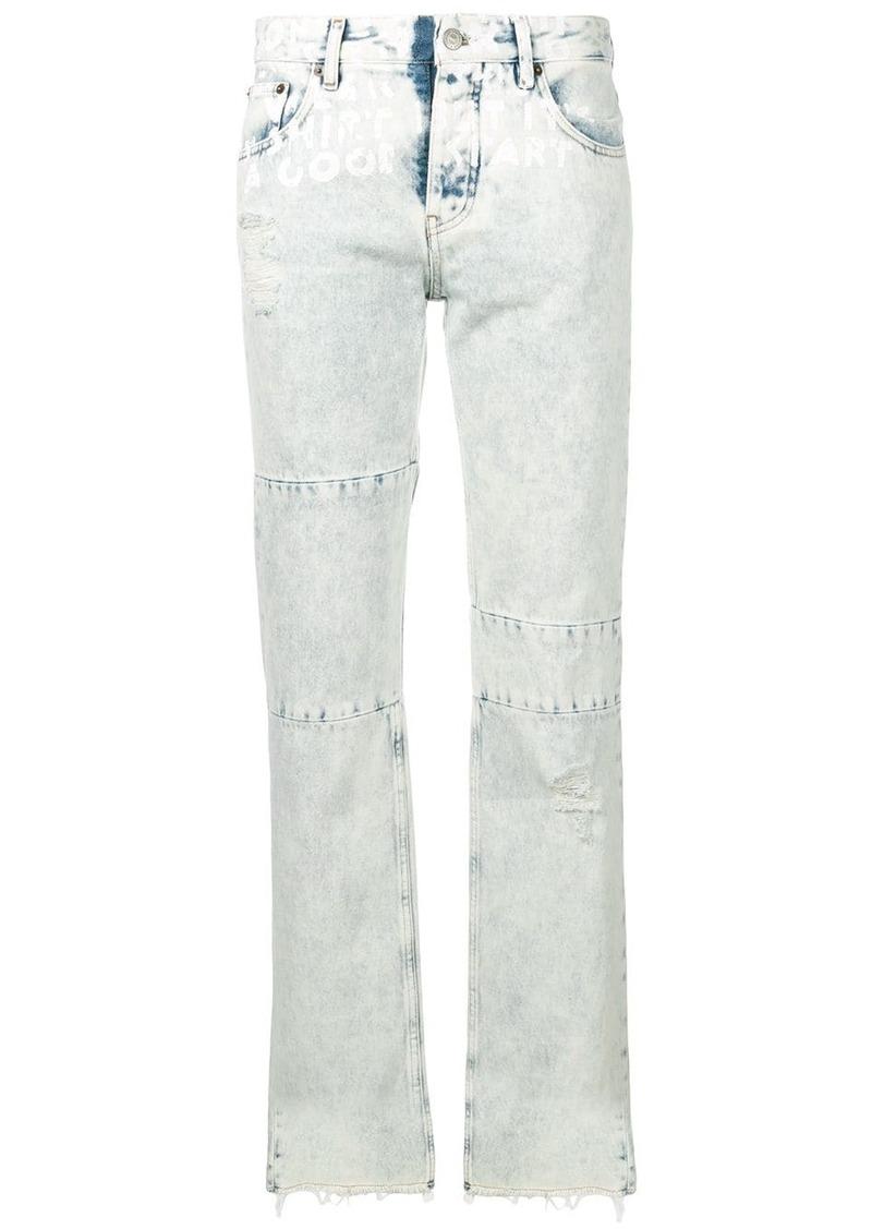 Maison Margiela panelled straight-leg jeans