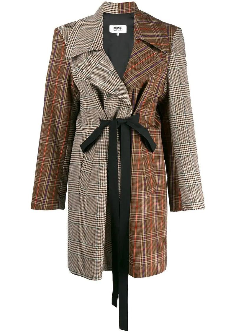 Maison Margiela patchwork tweed coat