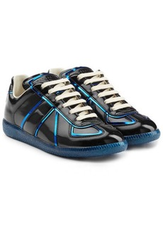 Maison Margiela Patent Leather Sneakers with Metallic Trims