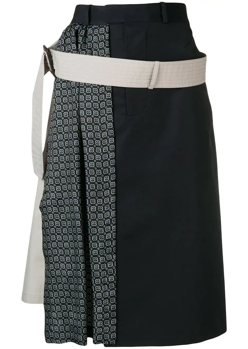 Maison Margiela patterned A-line skirt