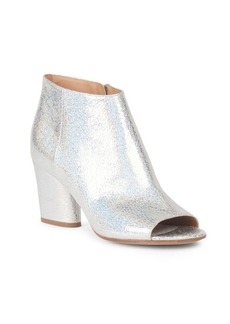 Maison Margiela Peeptoe Leather Booties