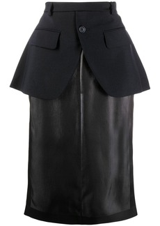 Maison Margiela peplum straight skirt