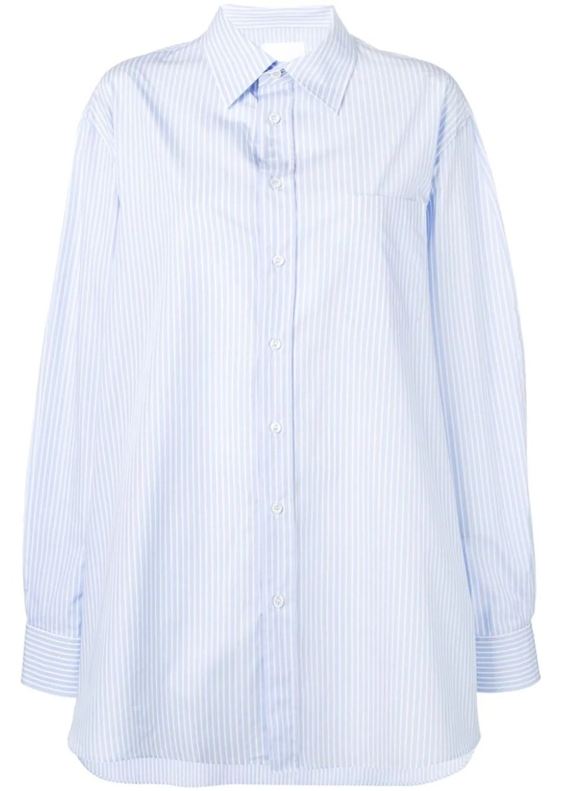 Maison Margiela pinstripe oversized shirt