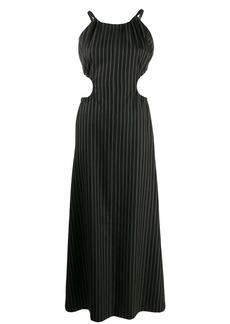 Maison Margiela pinstriped cut-out dress