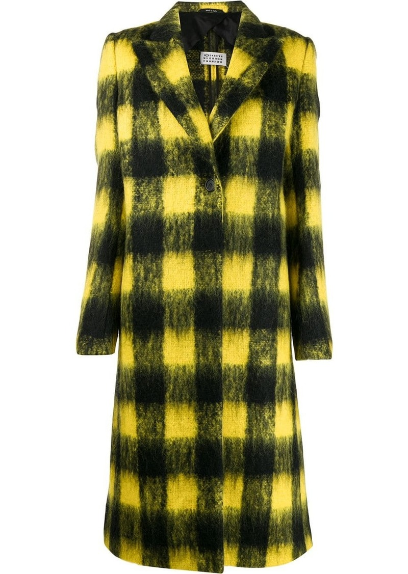 Maison Margiela plaid button-front coat