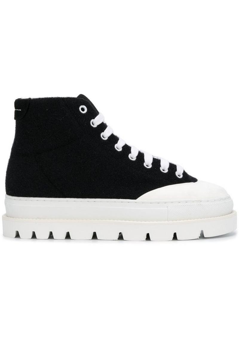 ffa864eee0070 SALE! Maison Margiela platform sole mid sneakers