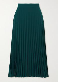 Maison Margiela Pleated Crepe Midi Skirt