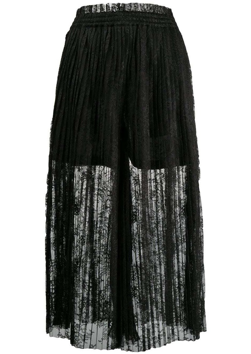 Maison Margiela pleated lace maxi skirt