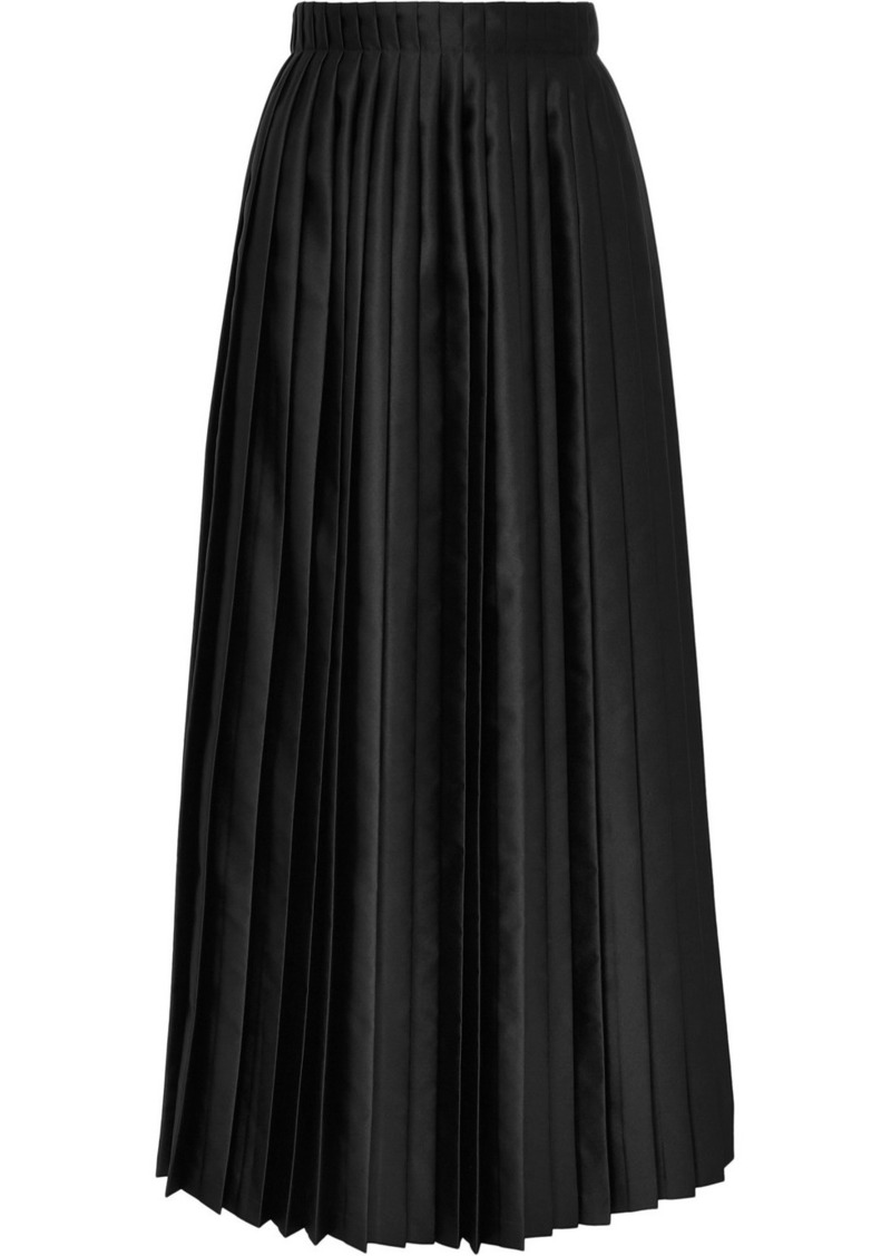 Maison Margiela Pleated Satin Maxi Skirt