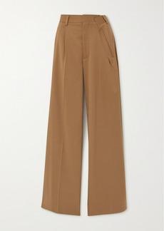 Maison Margiela Pleated Twill Wide-leg Pants