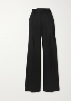 Maison Margiela Pleated Twill Wide-leg Pants
