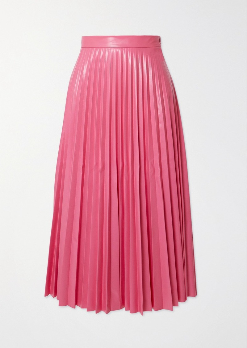 Maison Margiela Pleated Vinyl Midi Skirt