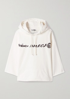 Maison Margiela Printed Cotton-jersey Hoodie