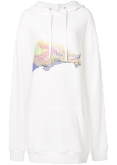 Maison Margiela printed front hoodie dress