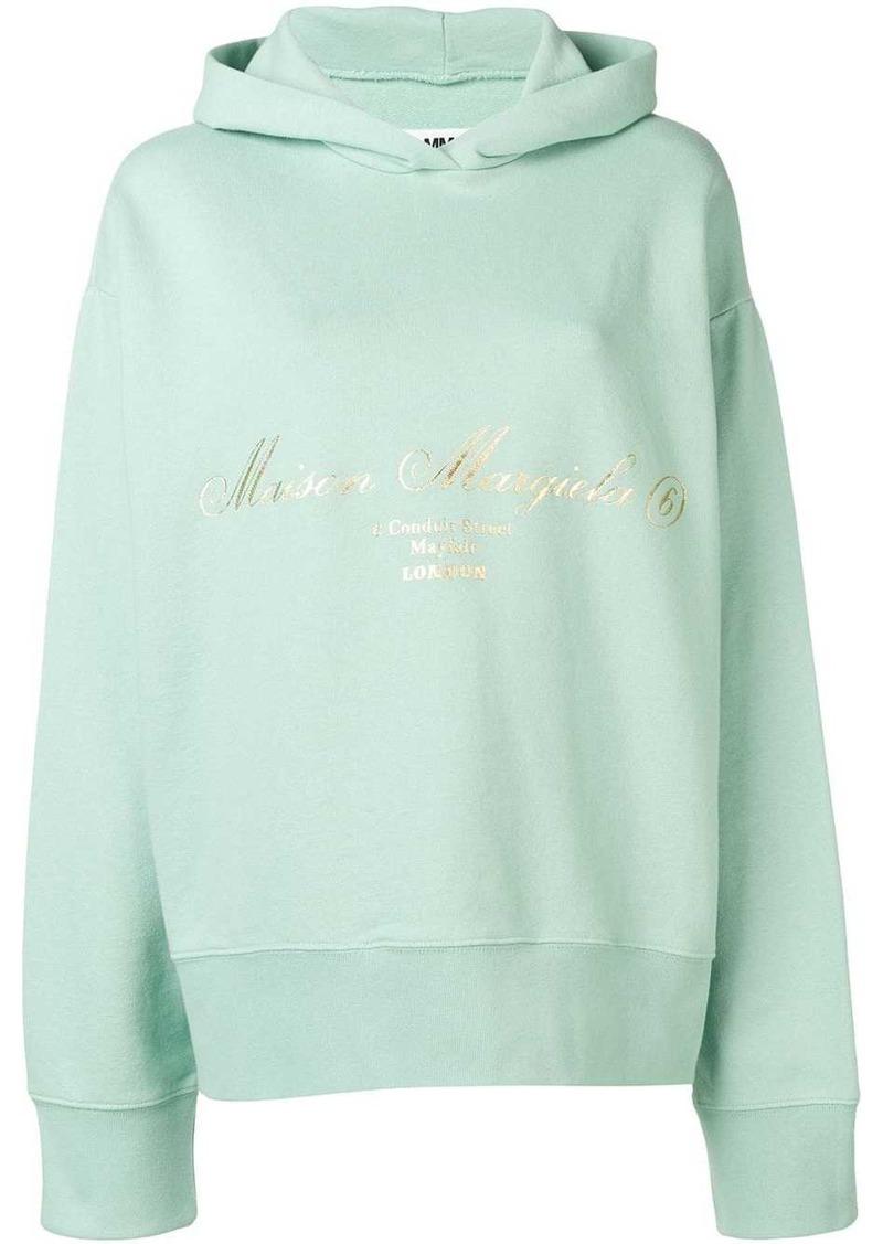 Maison Margiela printed logo hoodie