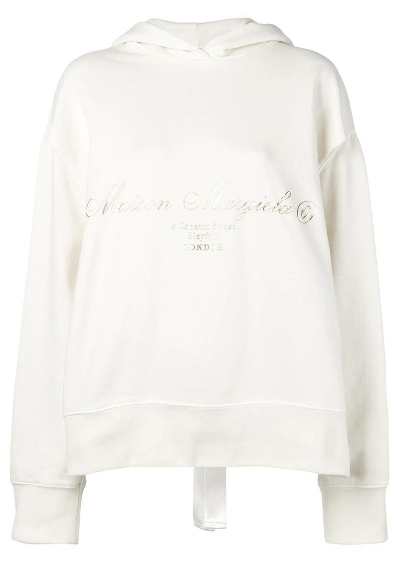Maison Margiela printed slit hoodie