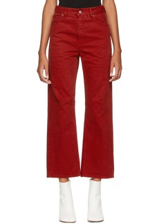 Maison Margiela Red Garment-Dyed Jeans