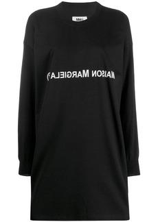 Maison Margiela reversed logo jersey dress
