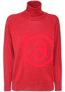 Maison Margiela Reversible Logo Turtleneck Sweater