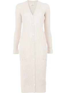 Maison Margiela ribbed knit buttoned dress