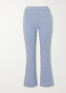 Maison Margiela Ribbed-knit Flared Pants