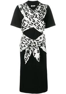 Maison Margiela ribbon tied jersey dress