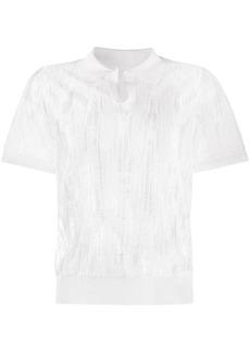 Maison Margiela ripped polo shirt