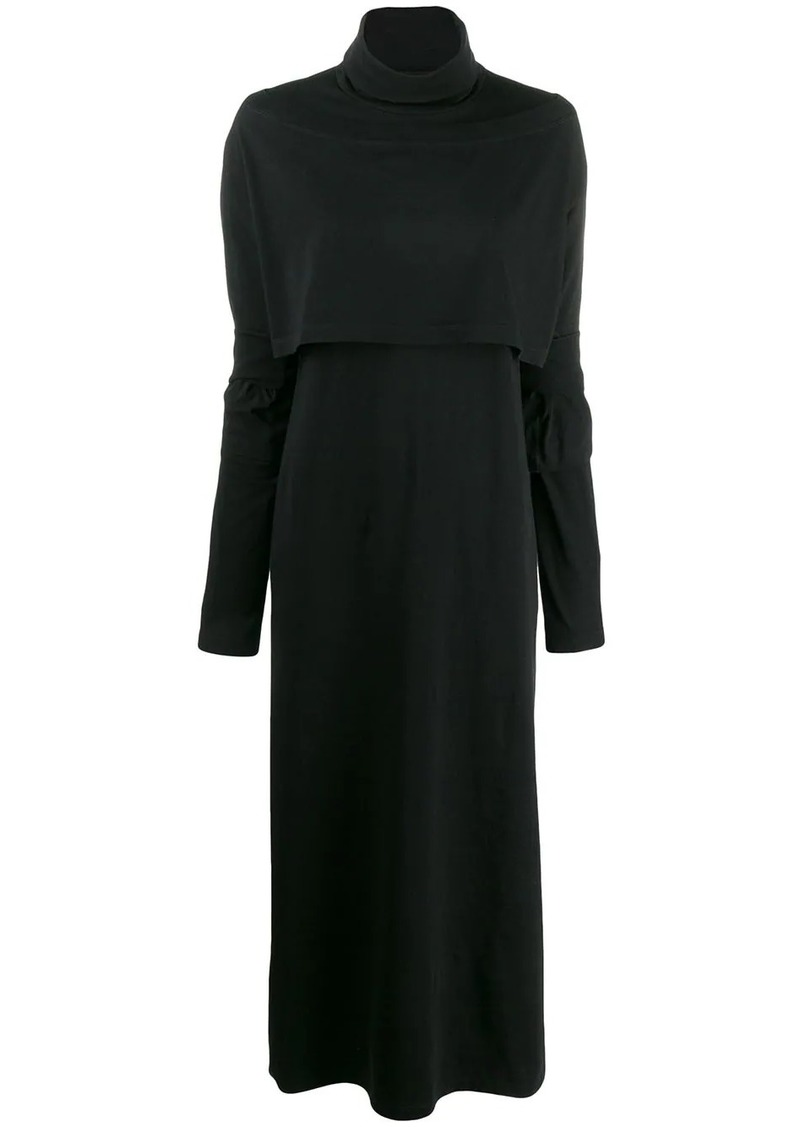 Maison Margiela roll neck jersey maxi dress