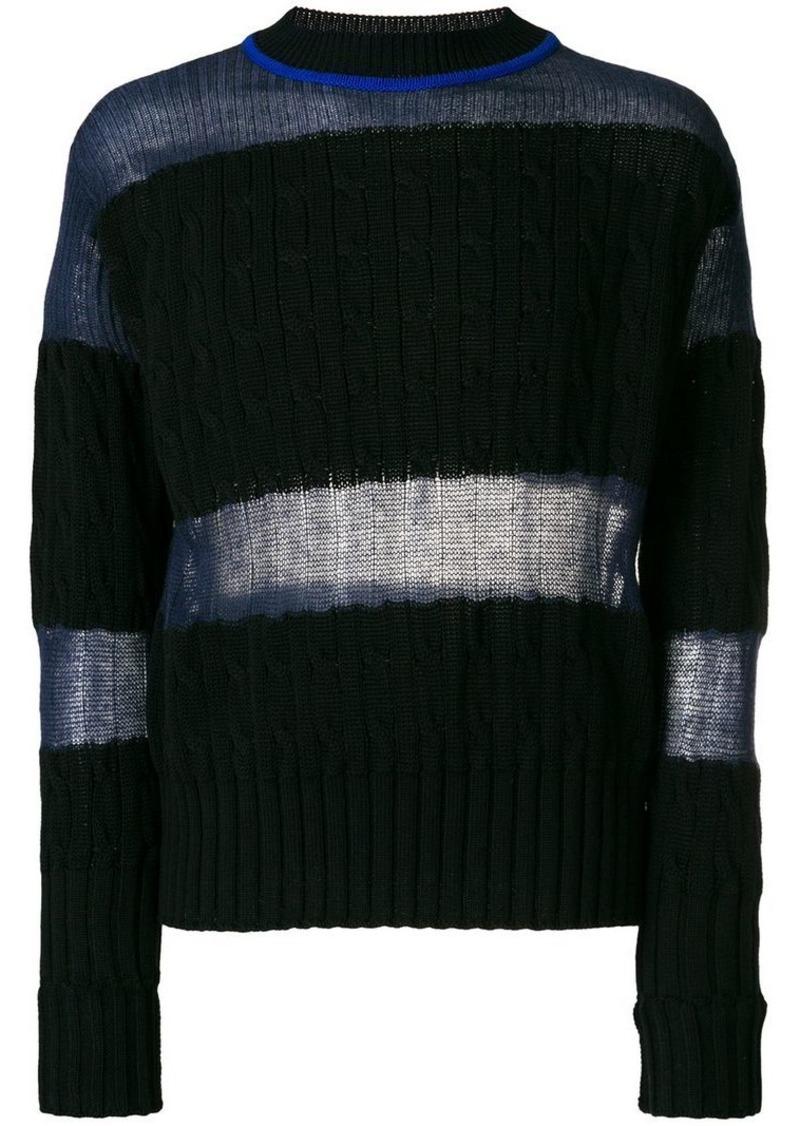 5417823528 round neck panelled sweater